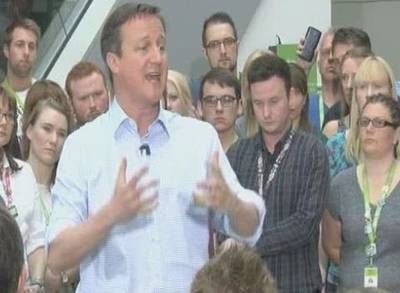 News video: David Cameron Accidentally Calls the General Election 'Career Defining'